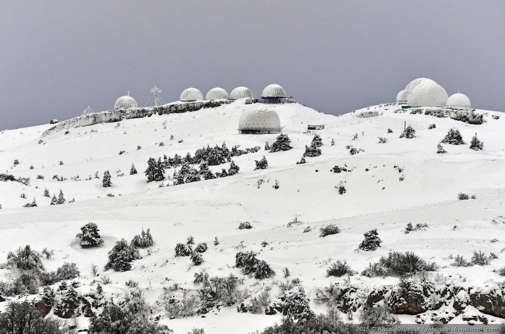 Радары в снегу.