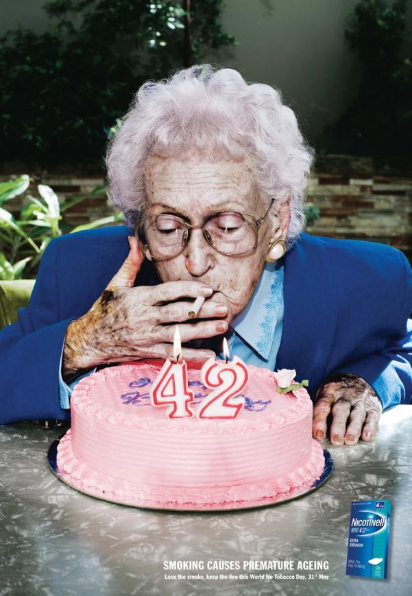 Курение вызывает преждевременное старение