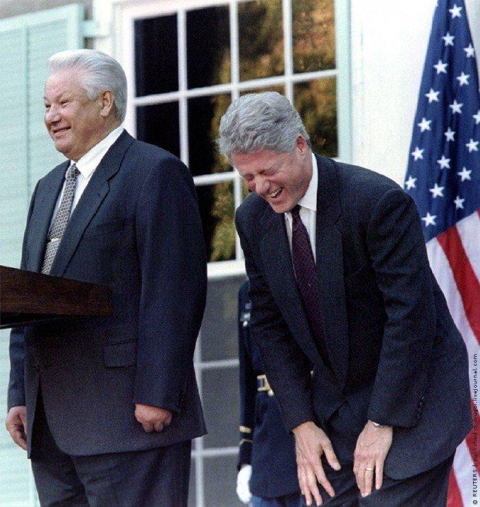 Б.Н. Ельцин и Б. Клинтон, США, 1995 год