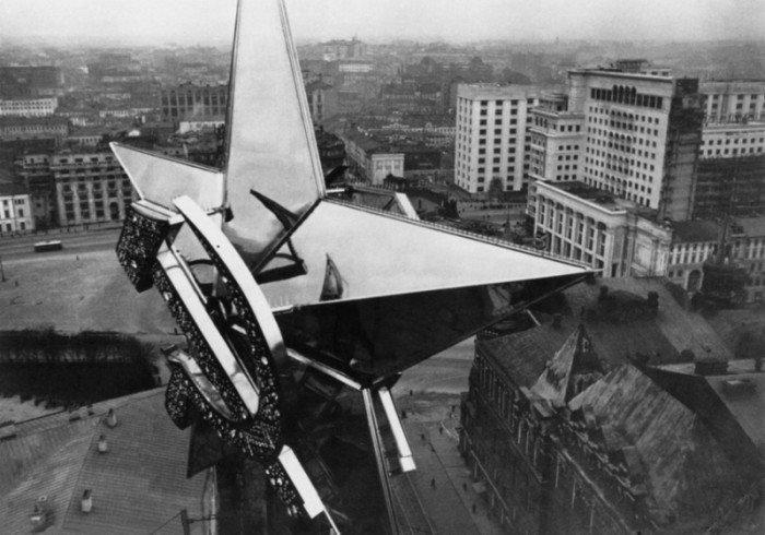 Звезда на Никольской башне. Фото 1935 года