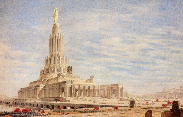 Борис Иофан. Проект Дворца Советов 1947-1948