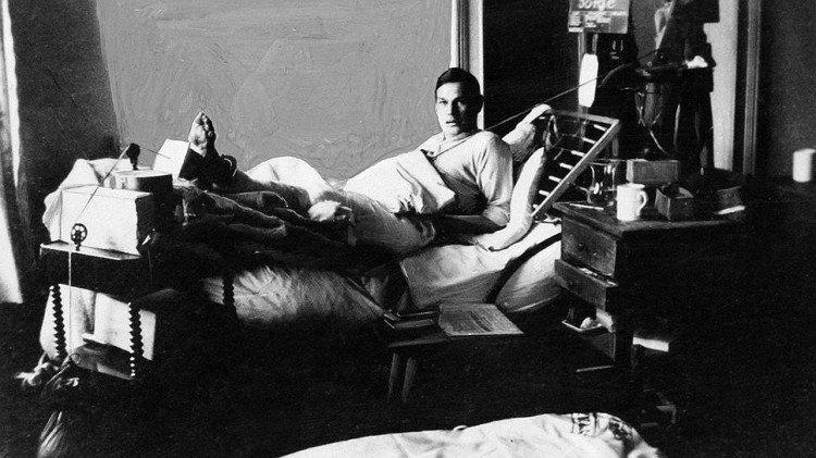Рихард Зорге в Кенигсбергском госпитале после тяжелого ранения