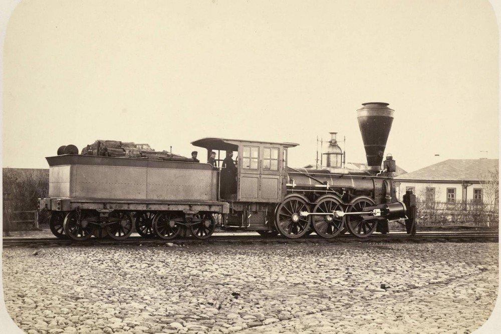 Паровоз на Николаевской железной дороге