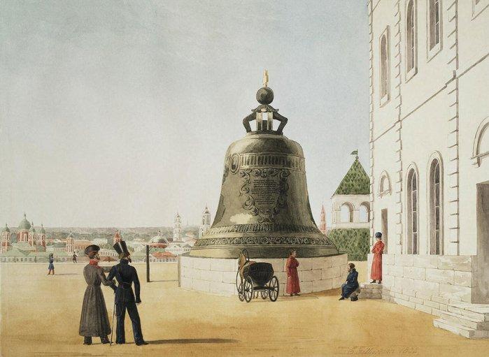 E. Gilbertson. Царь-колокол. 1838 г.