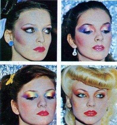 Макияж и прически 80-х годов