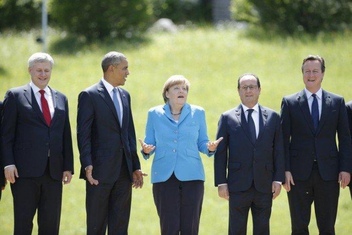 олланд обама меркель кэмерон харпер