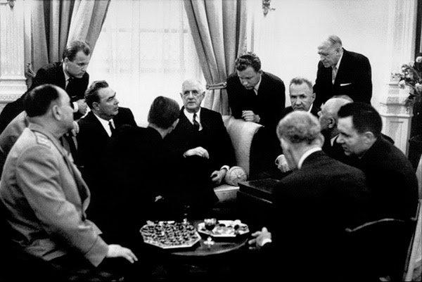 Брежнев и де Голль 1965 год