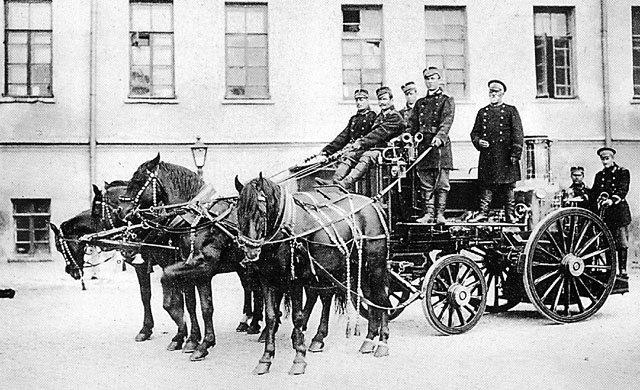 Пожарный отряд, Москва, 1900