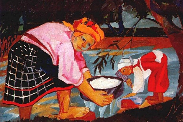Наталья Гончарова. «Крестьянки» (1910г.)