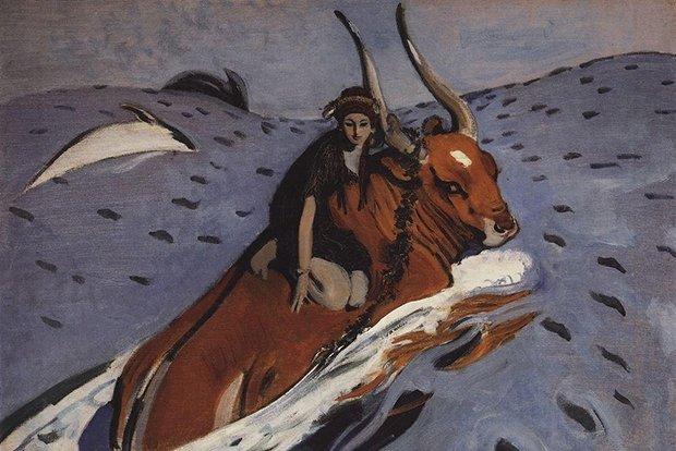 Валентин Серов. «Похищение Европы» (1910г.)
