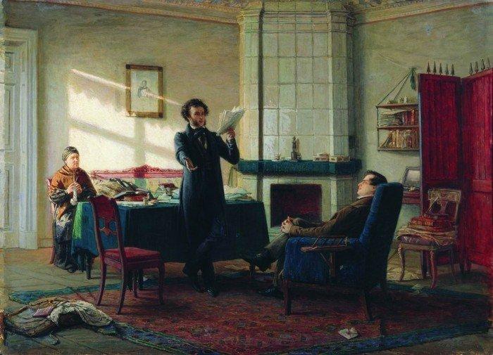 Пушкин в селе Михайловском.