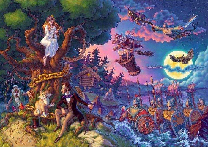 Сказки дети пушкин