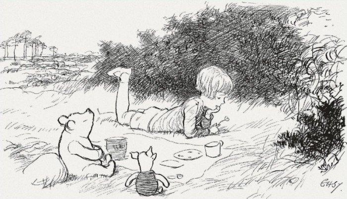 Иллюстрация к книге о Винни-Пухе