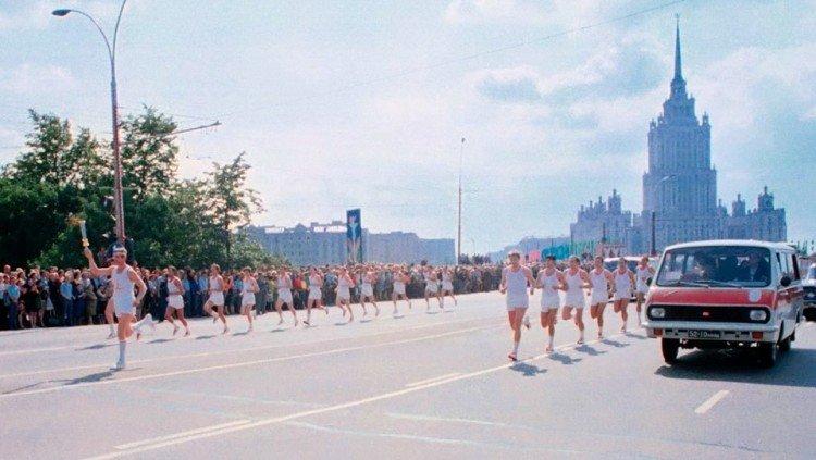 Эстафета Олимпийского огня в Москве, 1980 год