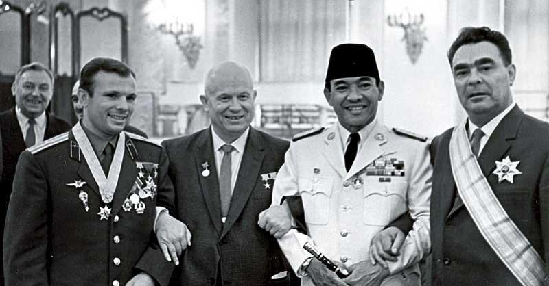Гагаин, Хрущев и Брежнев