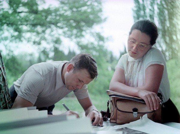 Гагарин с супругой Валентиной