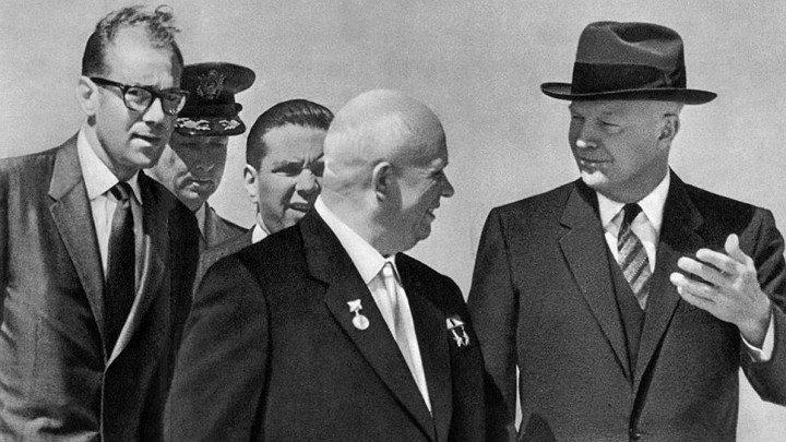 Никита Хрущев и Дуайт Эйзенхауэр в США, 1959 год