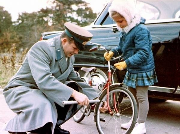 Младшая дочь Юрия Гагарина - Галя.
