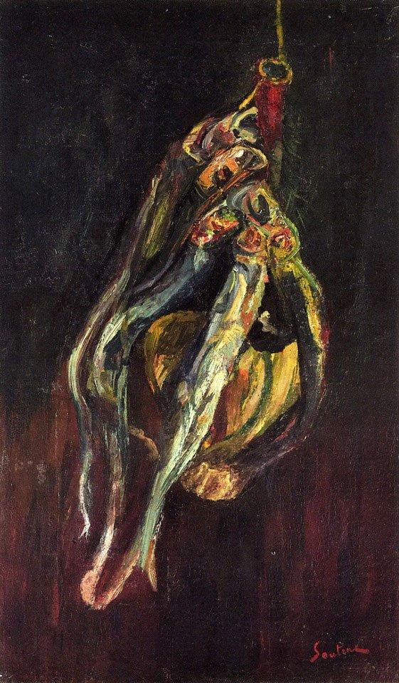 Хаим Сутин «Сельдь и бутылка кьянти»