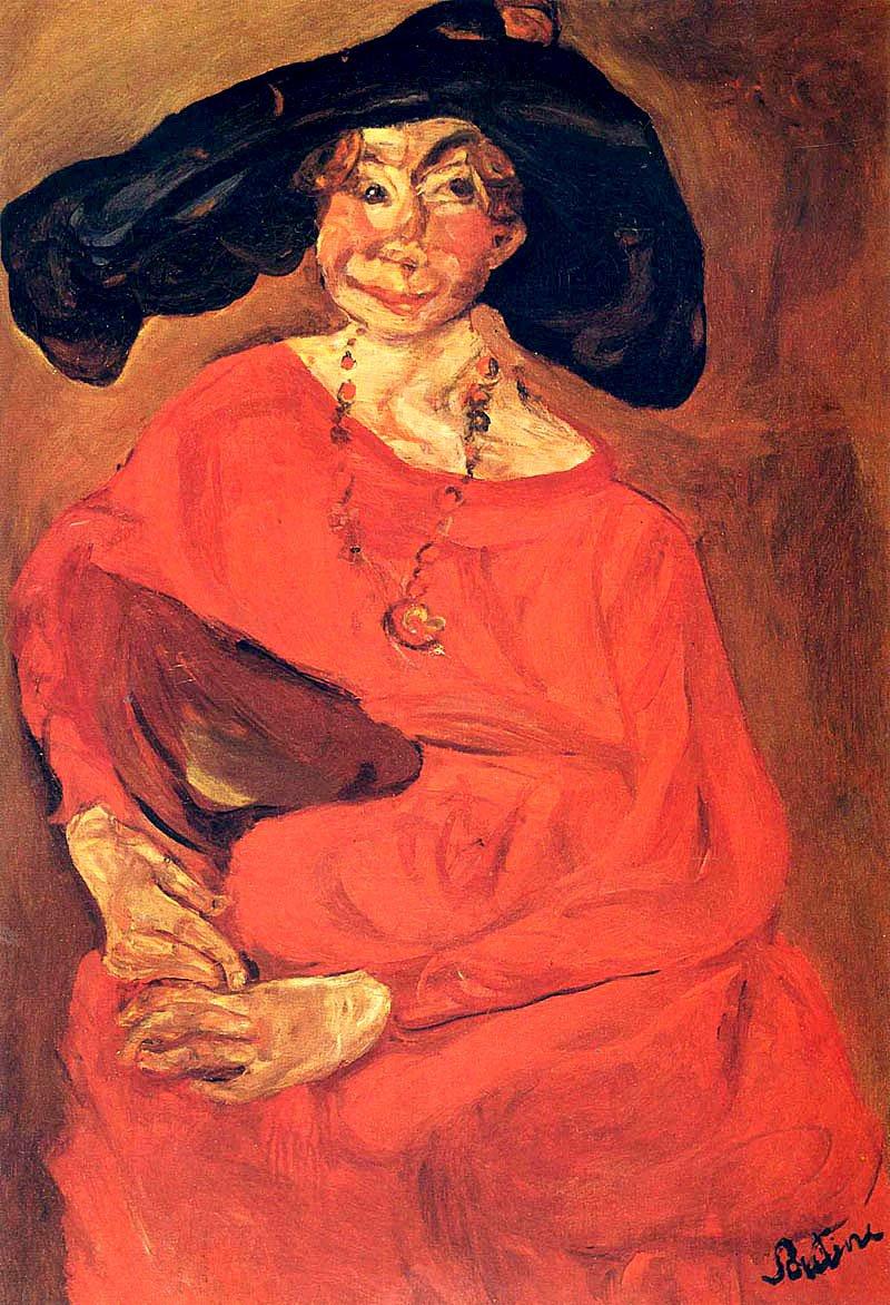 Хаим Сутин «Женщина в красном»