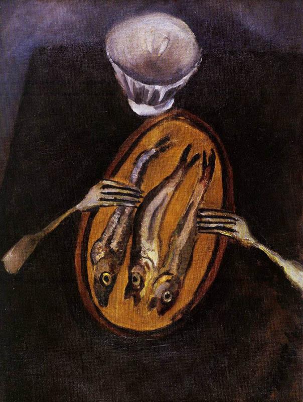 Натюрморт с селедкой, 1916
