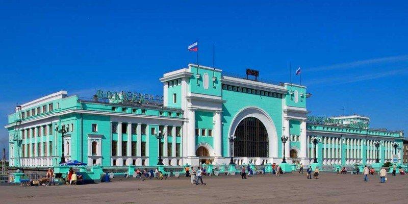 Самый большой вокзал Новосибирск