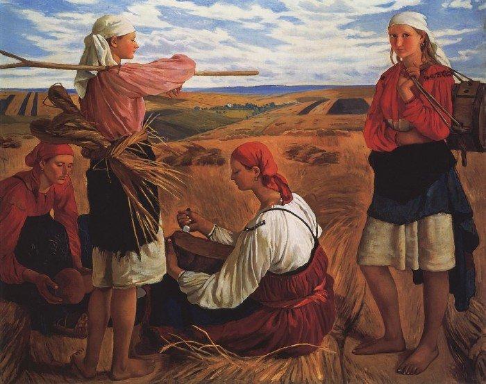 Зинаида Евгениевна Серебрякова. Жатва. 1915