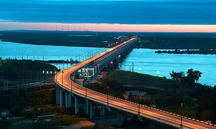 Мост через Амур, Хабаровск