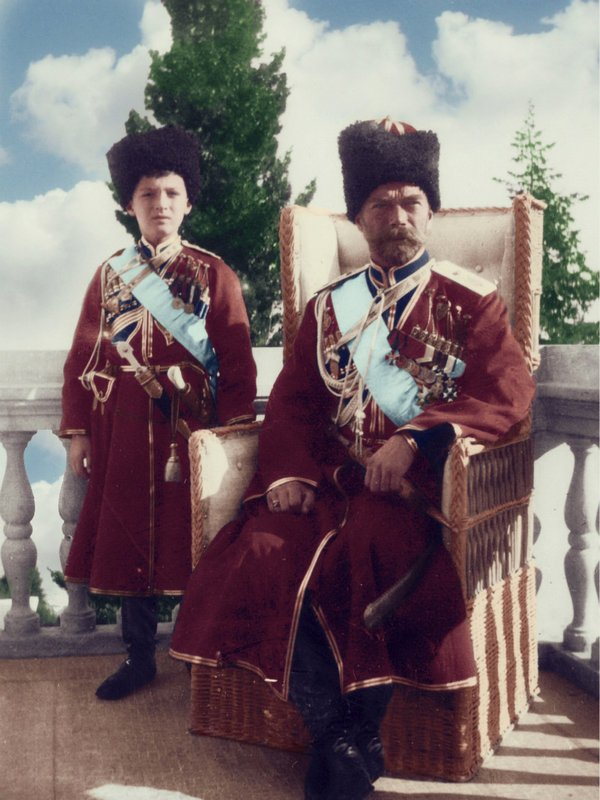 tsarevich_alexei_and_his_father__tsar_nicholas_ii_by_kraljaleksandar-d5v4bmm