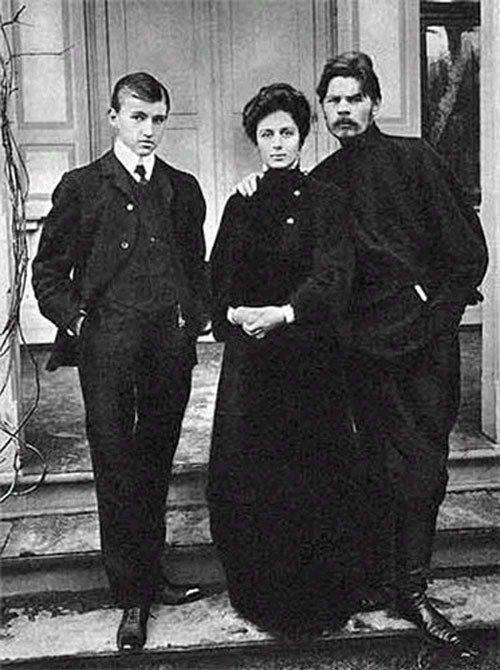 mariya-fedorovna-andreeva-andreeva-s-synom-i-a-m-gorkim-1905-god