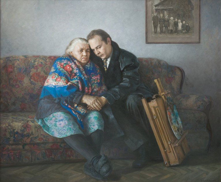 Hudozhnik-s-mamoj