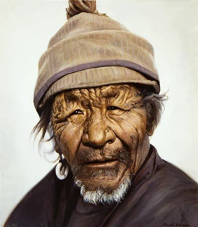Portret-starika