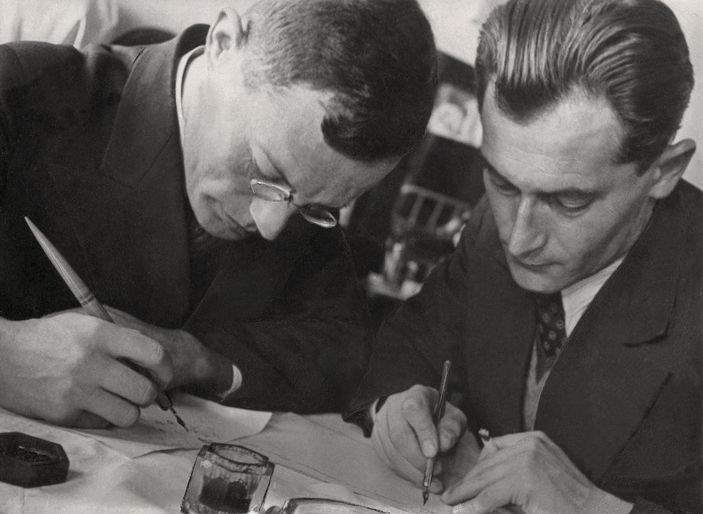 Ilf-i-Petrov.-Fotograf-E.-Langman.-1932-g