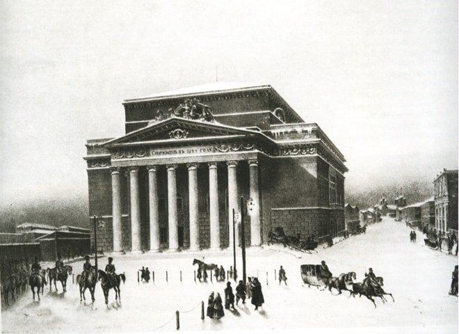 Bolshoj-Petrovskij-teatr.-Litografiya-s-risunka-Pere.-1825-g