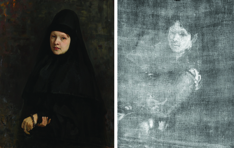 I.E.Repin.-Kartina-Monahinya-1878-g.-i-eyo-rentgenogramma-