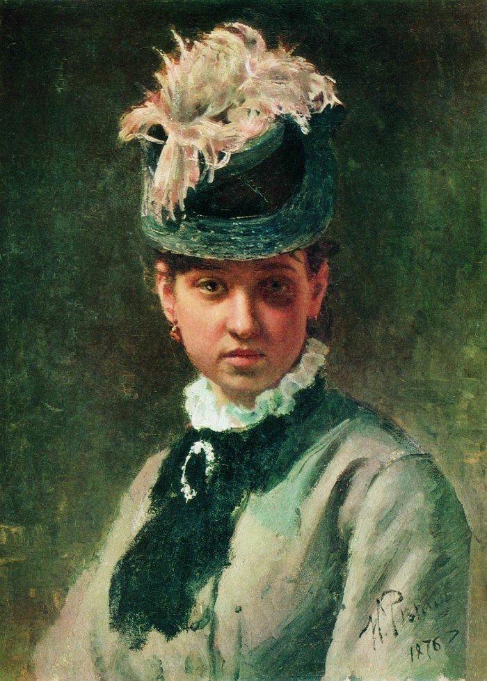 Portret-V.A.Repinoj-zheny-hudozhnika.-1876