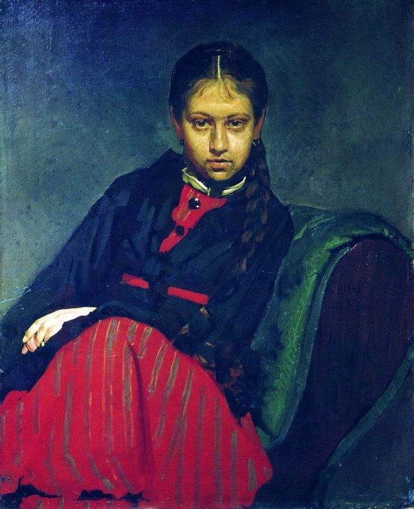Repin-I.E.-Portret-Verochki-SHevtsovoj-vposledstvii-zheny-hudozhnika-1869g