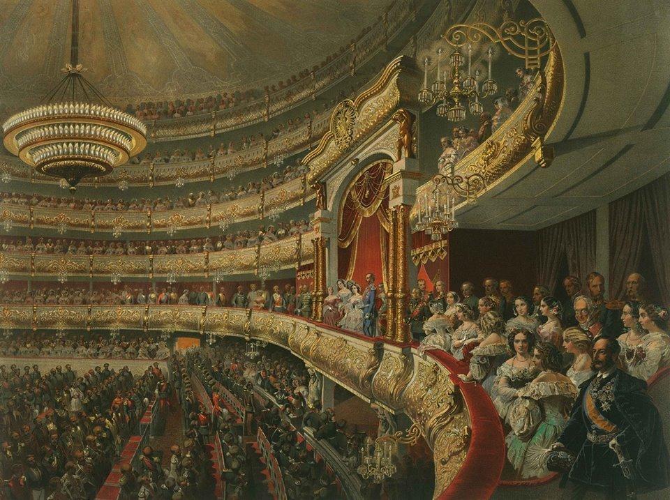 Vid-na-tsarskuyu-lozhu-Bolshogo-teatra.-Akvarel-1856-goda