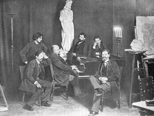 I.-Repin-V.-Surikov-S.-Mamontov-K.-Korovin-V.-Serov-M.-Antokolskij-1880-e-gg