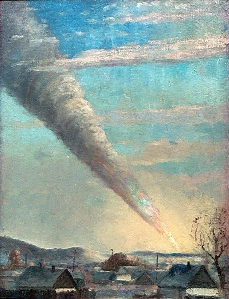 Padenie-Sihote-Alinskogo-meteorita-.-Kartina_Medvedeva