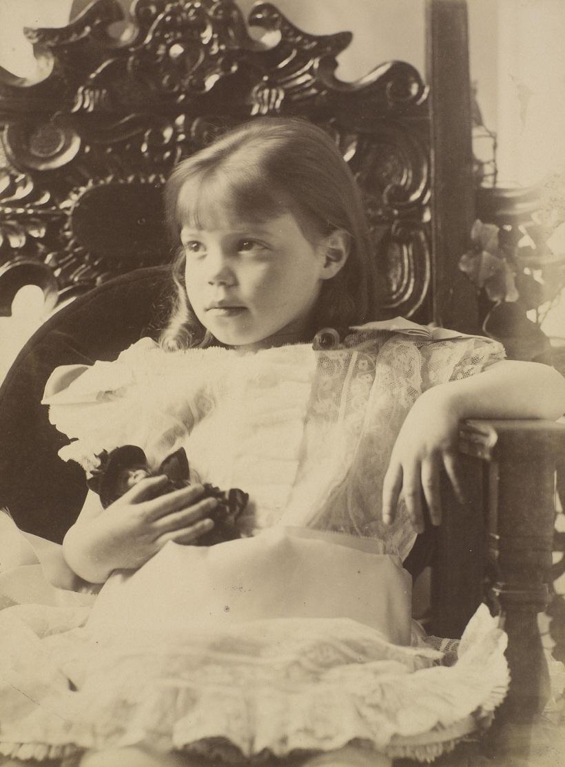 Portret-velikoj-knyazhny-Olgi-Aleksandrovny-v-detstve