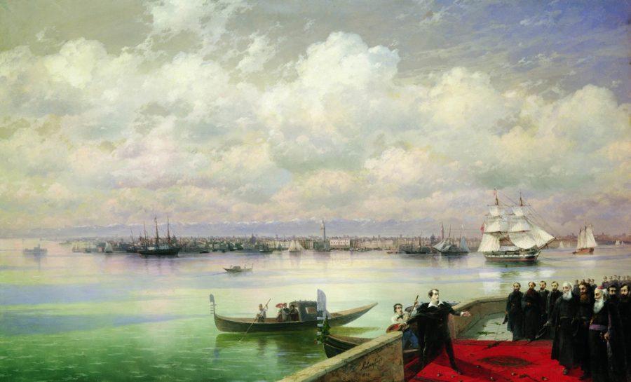 Poseshhenie-Bajronom-mhitaristov-na-ostrove-sv.-Lazarya-v-Venetsii.-1899