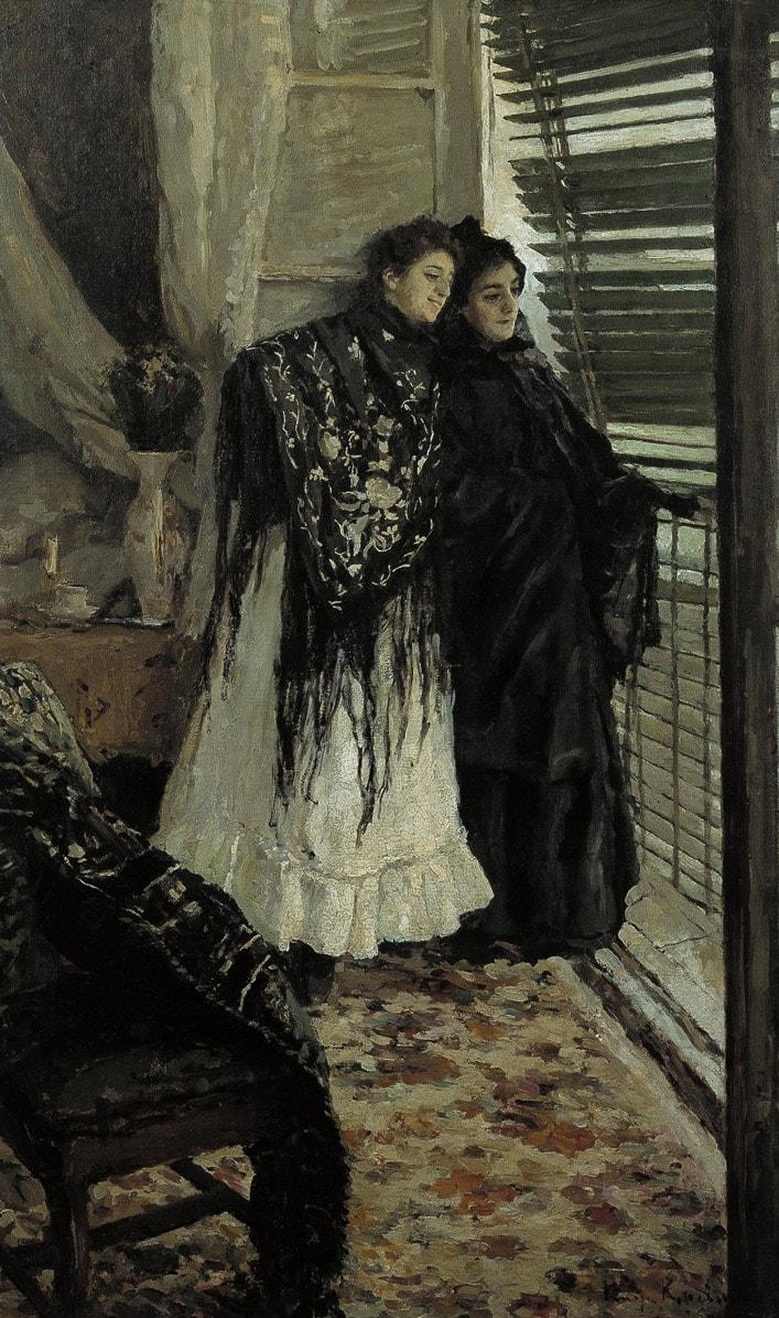 U-balkona.-Ispanki-Leonora-i-Ampara.-1888-1889