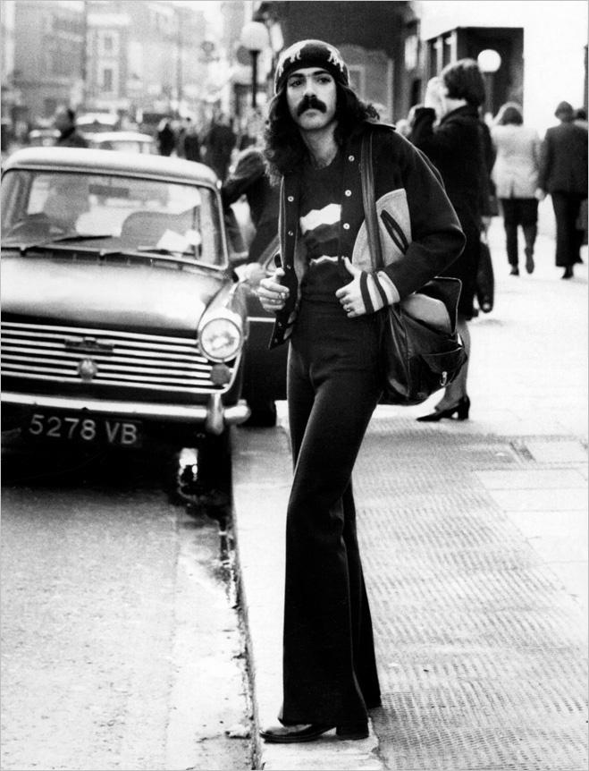 Брюки-клеш, 1970-е гг.