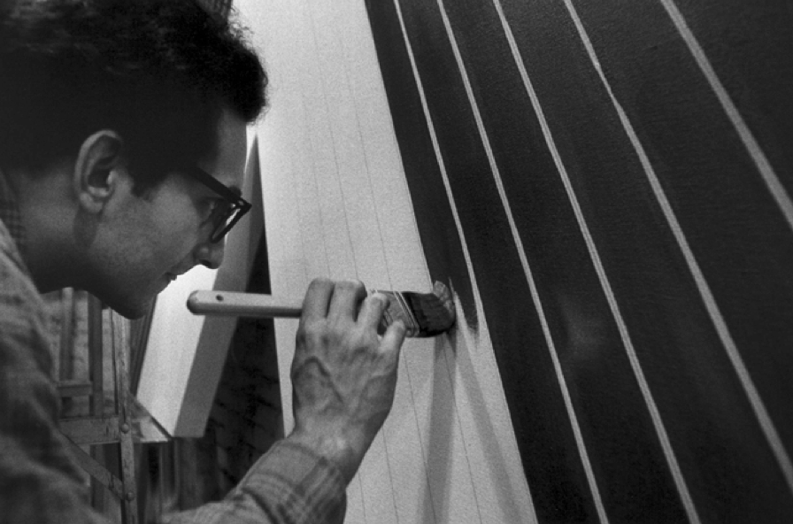 Frank Stella working on his Black Series
