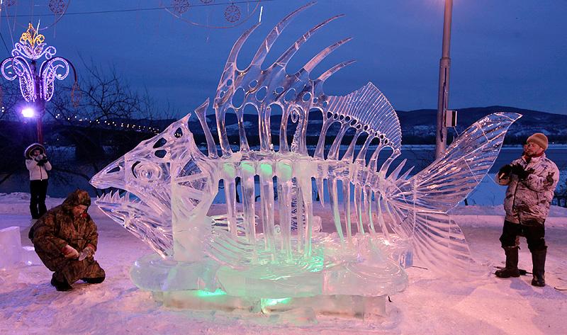 Ледяная скульптура Новосибирск