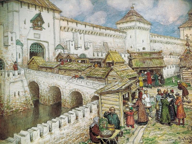 Knizhnye-lavki-na-Spasskom-mostu-v-XVII-veke.-1902