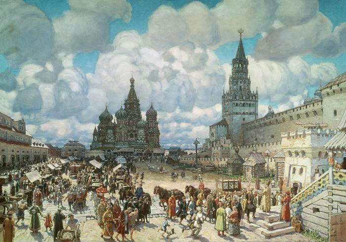 Krasnaya-Ploshhad-vo-vtoroj-polovine-XVII-veka.-1925
