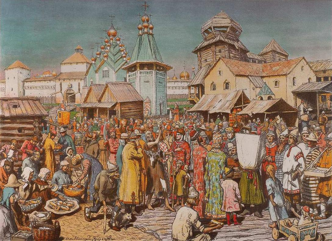 Ploshhad-v-gorode-Moskovskih-vremen.-1908-1909