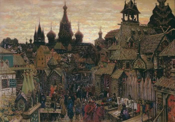 Ulitsa-v-Kitaj-gorode.-Nachalo-XVII-veka.-1900.
